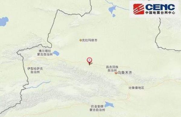 新疆塔城地区沙湾县发生5