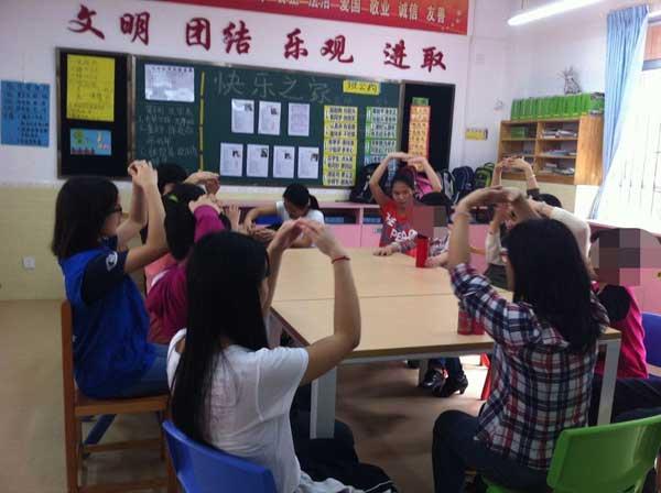 广州现代信息学院青协到启慧学校开展分享活动