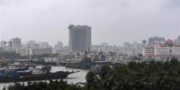 """10月15日,船只回到海口新港码头避风。据海南省气象部门预报,今年第20号台风""""卡努""""具有风力强、雨量大、范围广等特点,预计于10月16日凌晨到上午在海南文昌到广东湛江一带沿海地区登陆,将对海南造成较为严重影响。海南正全力部署,采取交通调整、学校停课、渔船回港和人员撤离等多举措严密防御""""卡努""""。新华社记者杨冠宇摄 - 新浪广东"""