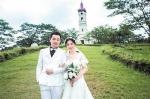 蔡少林和妻子的婚纱照 - 新浪广东