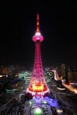 黑龙江龙塔为广州花市亮灯。 - 新浪广东