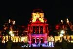 南非德班市市政厅大楼为广州花市亮灯。 - 新浪广东