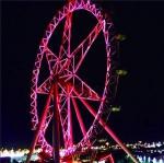 澳大利亚墨尔本观星摩天轮为广州花市亮灯。通讯员供图 - 新浪广东