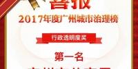 广州市公安局蝉联广州城市治理榜行政透明度奖第一名 - 广州市公安局