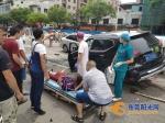 """突发!东莞一SUV车失控直撞前车后""""飞象过河"""",造成6人受伤及6车损坏 - News.Timedg.Com"""