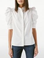 Gillian蓬蓬袖白色衬衣 - 新浪广东