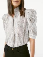 Gillian蓬蓬袖印花衬衫 - 新浪广东
