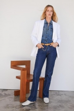 Le Italien系列复古深蓝色牛仔裤 - 新浪广东